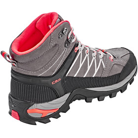 CMP Campagnolo W's Rigel Mid WP Trekking Shoes Grey-Red Fluo